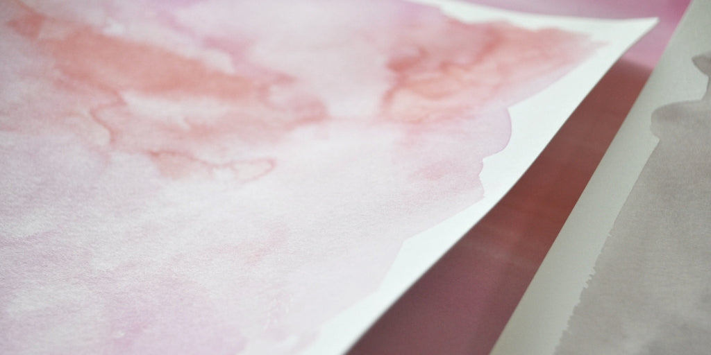 pink watercolor washes