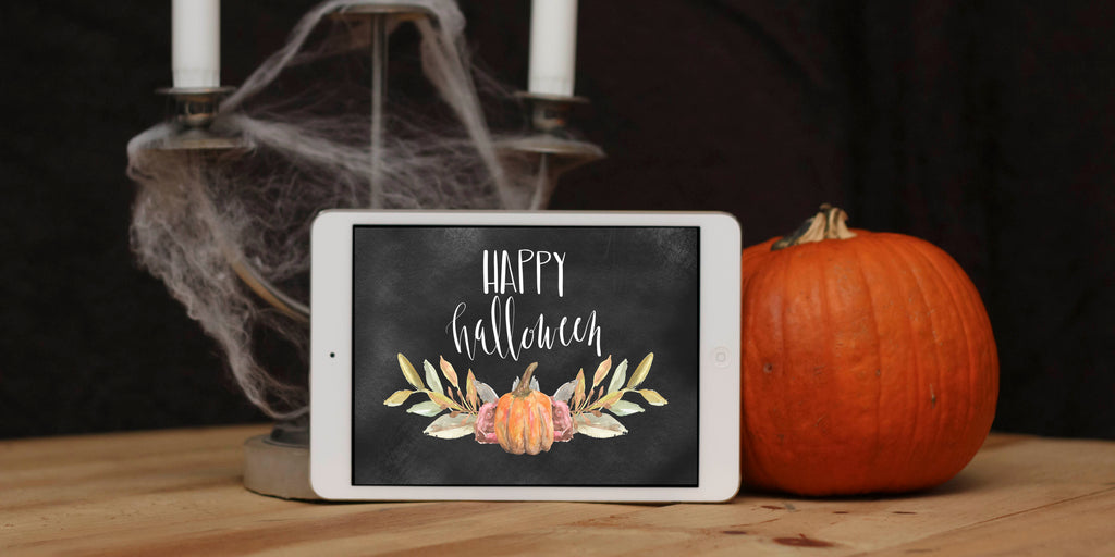 Happy Halloween Chalkboard Download