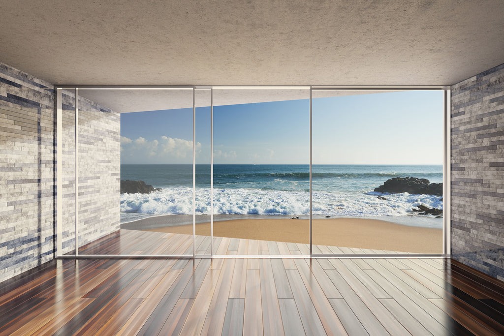 beach house flooring with view over ocean