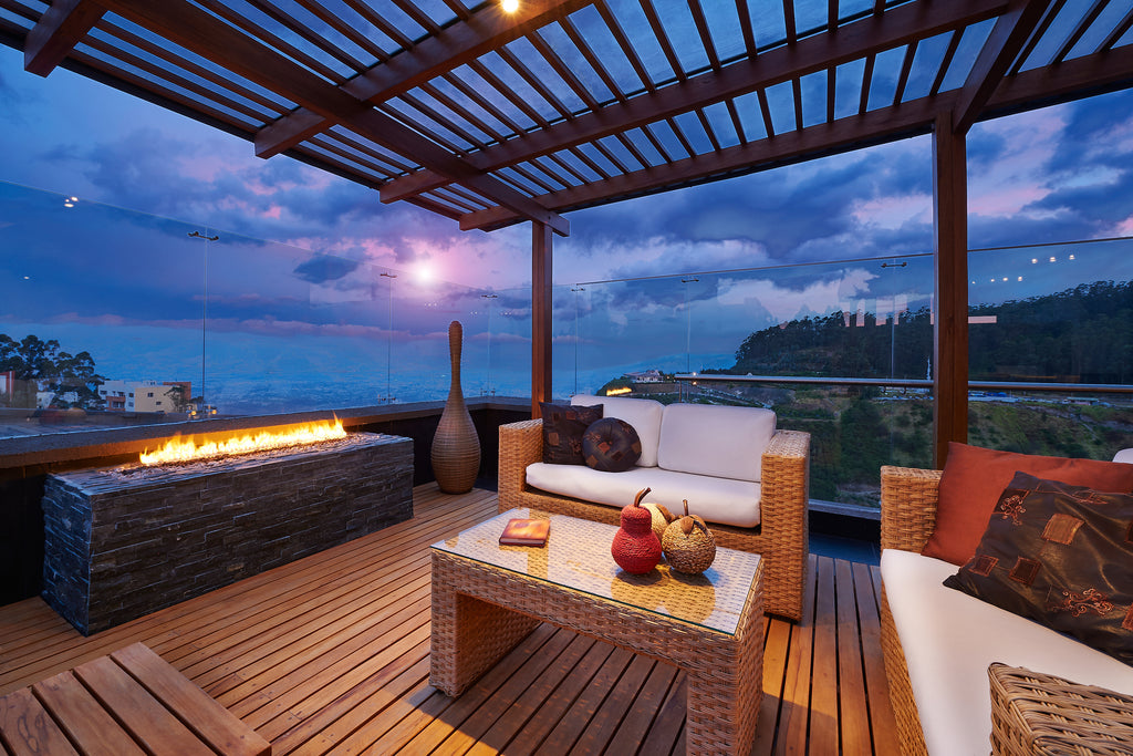 pergola overlooking the ocean