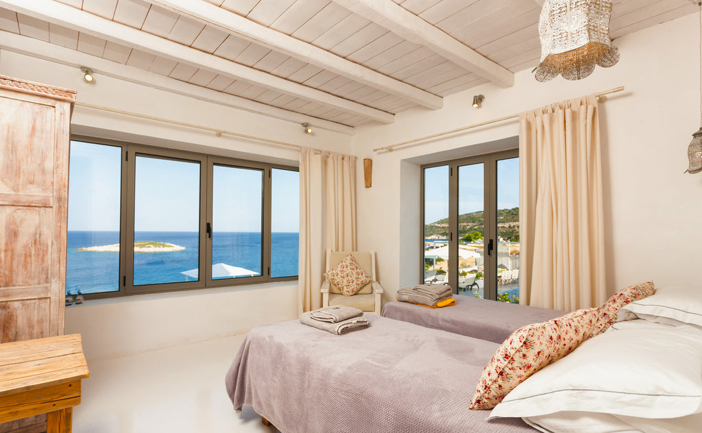 guest room with an oceanfront view