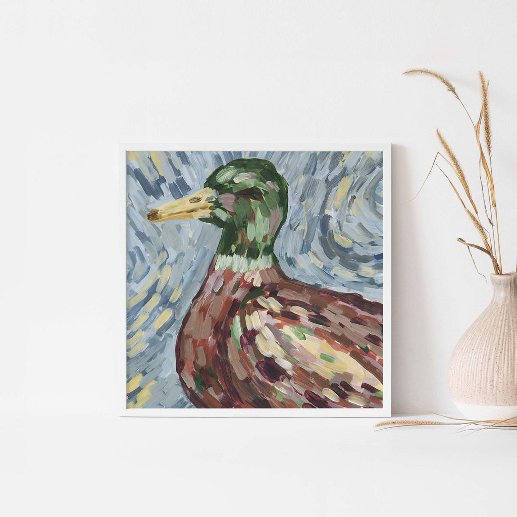 Duck Bright Farmhouse Painting Wall Art Print or Canvas - Jetty Home