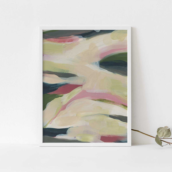 Nature Spring Abstract Painting Modern Home Wall Art Print or Canvas - Jetty Home