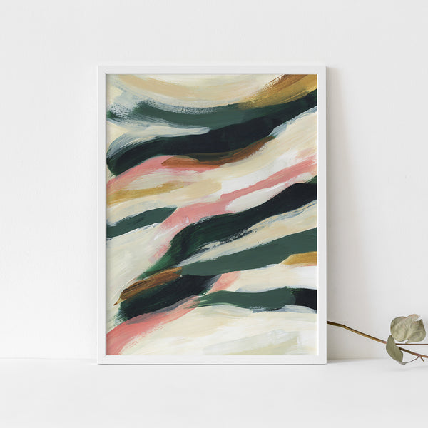 Abstract Tropical Painting Statement Decor Wall Art Print or Canvas - Jetty Home