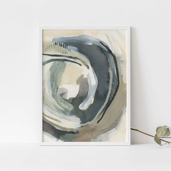 Water Movement Painting Modern Abstract Wall Art Print or Canvas - Jetty Home