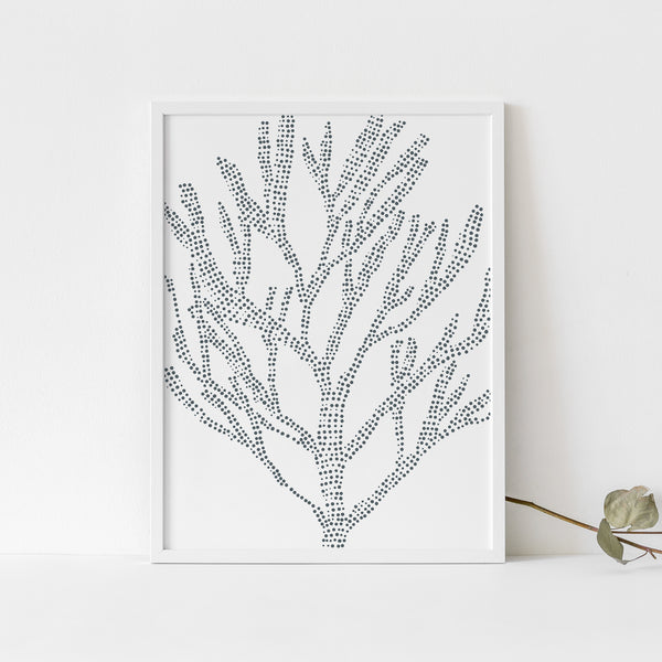 Sea Plant Nautical Coastal Seaweed Illustration Wall Art Print or Canvas - Jetty Home