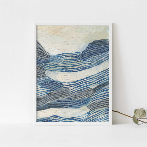 Underwater Pattern Painting Modern Ocean Wall Art Print or Canvas - Jetty Home