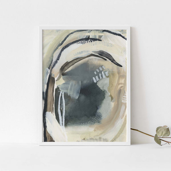 Lake Water Abstract Neutral Painting Wall Art Print or Canvas - Jetty Home
