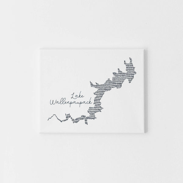 Lake Wallenpaupack Modern Map Illustration Wall Art Print or Canvas - Jetty Home