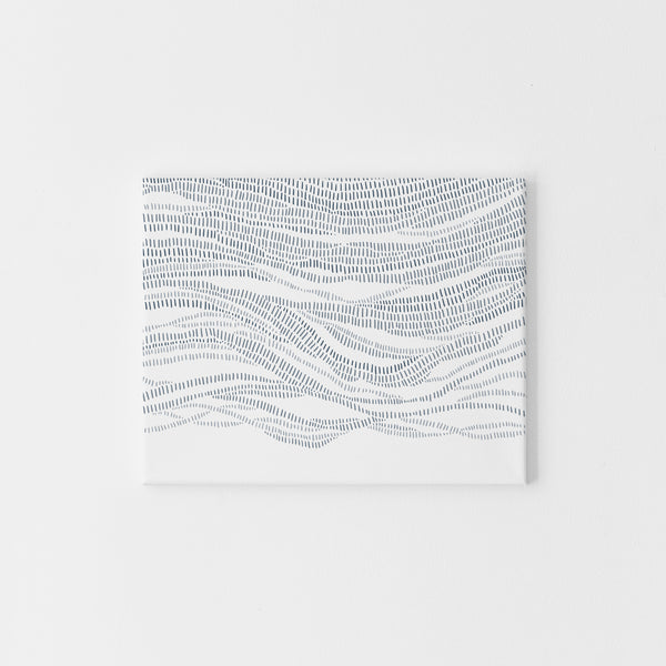 Abstract Ocean Waves Modern Beach Blue and White Wall Art Print or Canvas - Jetty Home