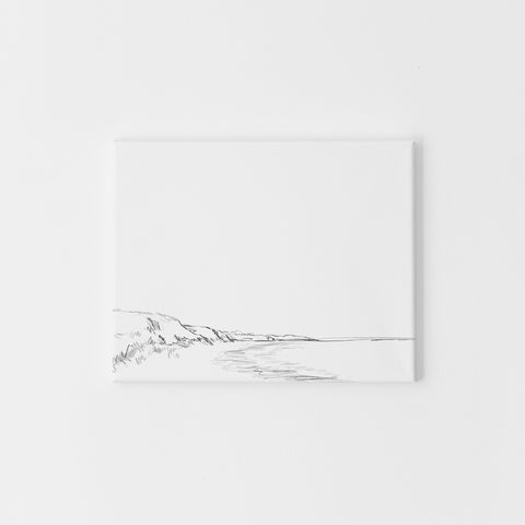 Coastal Bluff Seascape Modern Minimalist Wall Art Print or Canvas - Jetty Home
