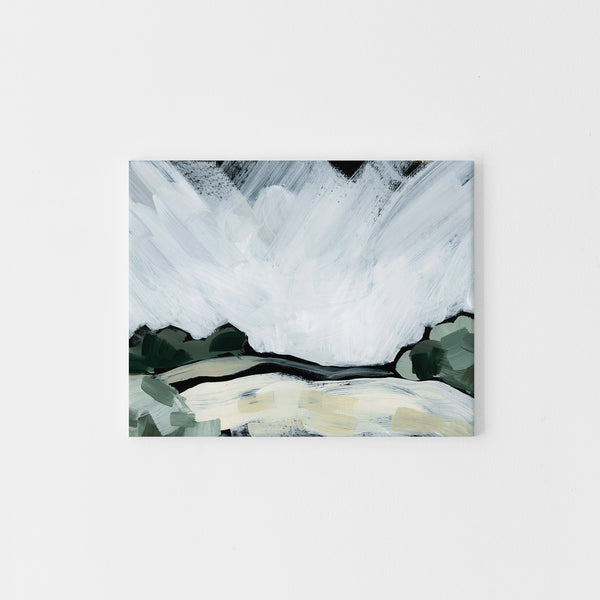 Countryside Rustic Painting Dark Moody Wall Art Print or Canvas - Jetty Home