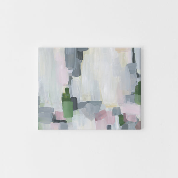 Modern Gray and White Abstract Painting Spring Wall Art Print or Canvas - Jetty Home