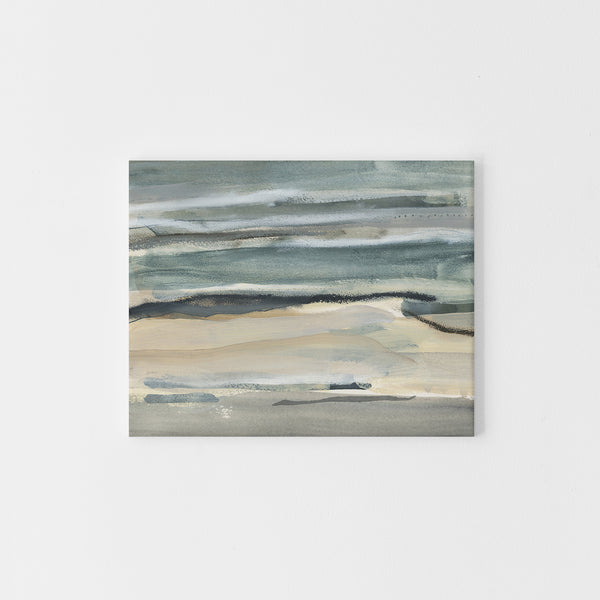 Abstract Lake Landscape Neutral Painting Wall Art Print or Canvas - Jetty Home