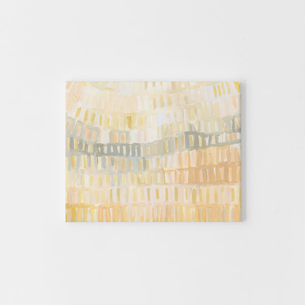 Orange Sherbet Abstract Ocean Beach Painting Wall Art Print or Canvas - Jetty Home