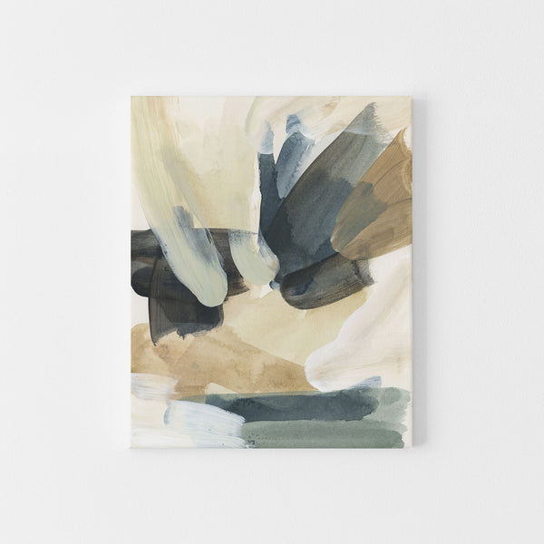 Coastal Inspired Abstract Painting Neutral Wall Art Print or Canvas - Jetty Home
