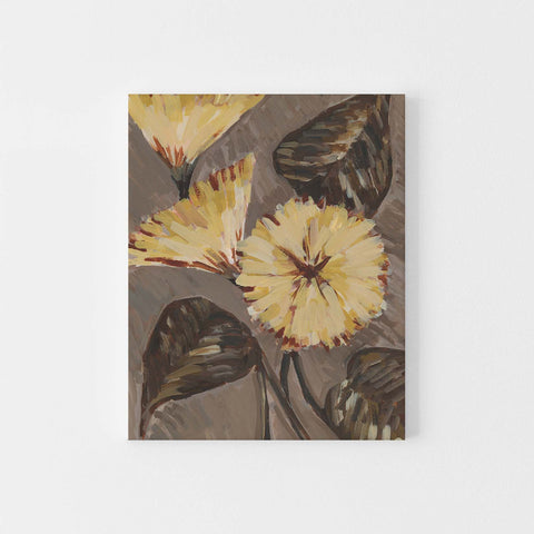 Modern Yellow Flower Botanical Bloom Wall Art Print or Canvas - Jetty Home
