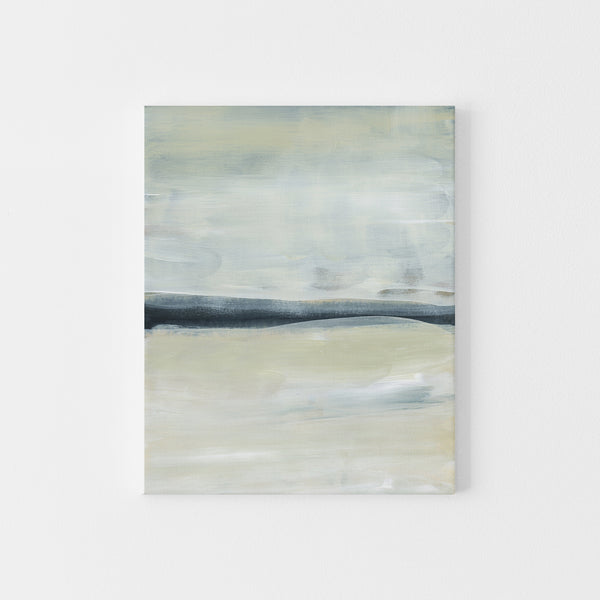 Modern Lake Coastal Neutral Painting Wall Art Print or Canvas - Jetty Home