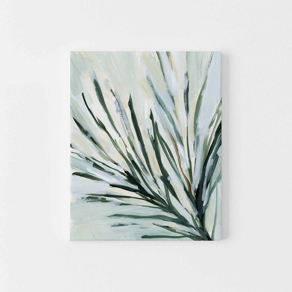 Natural Pine Branch Needles Winter Botanical Forest Wall Art Print or Canvas - Jetty Home