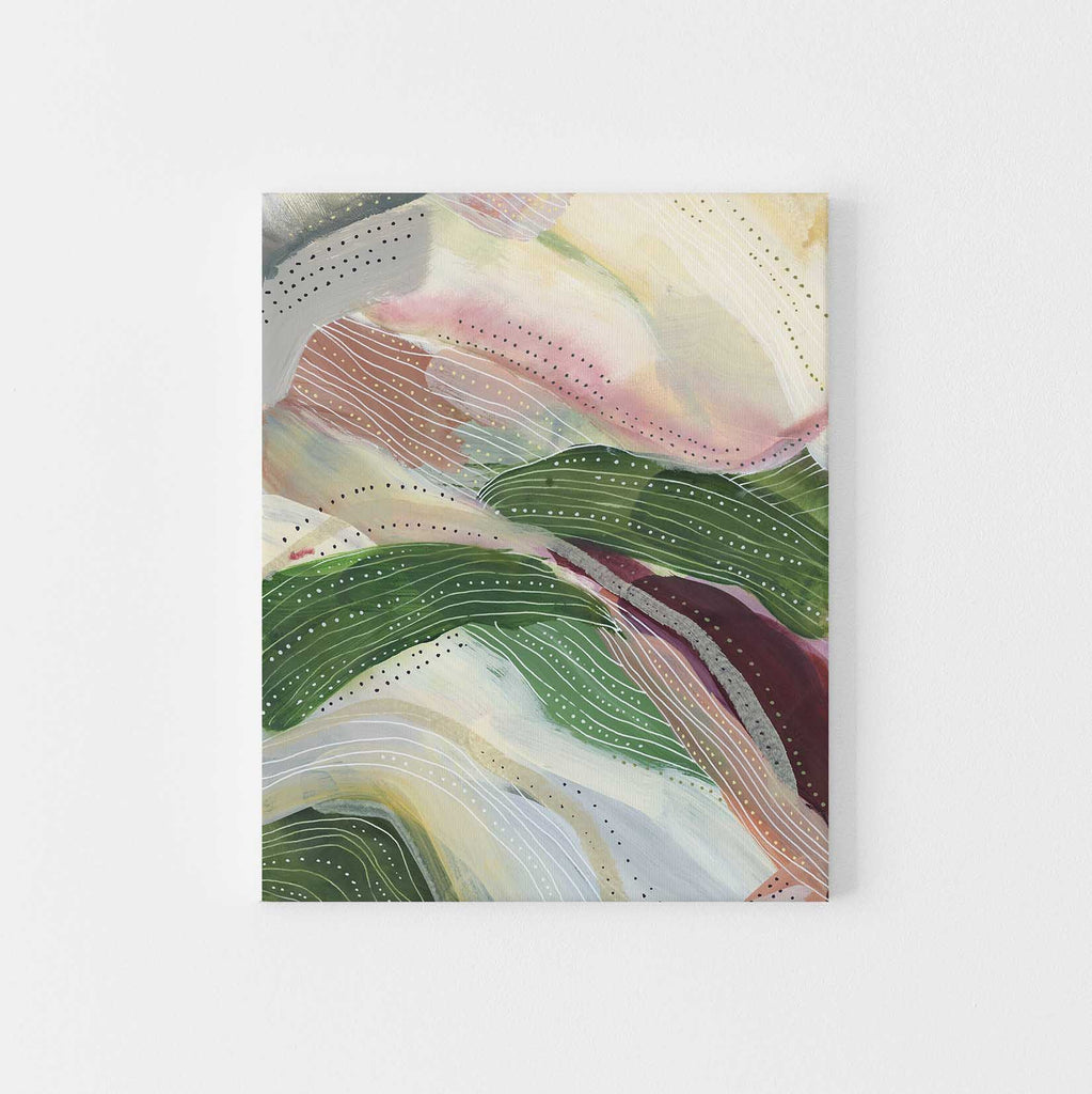 Abstracted Hillside Modern Painting Wall Art Print or Canvas - Jetty Home