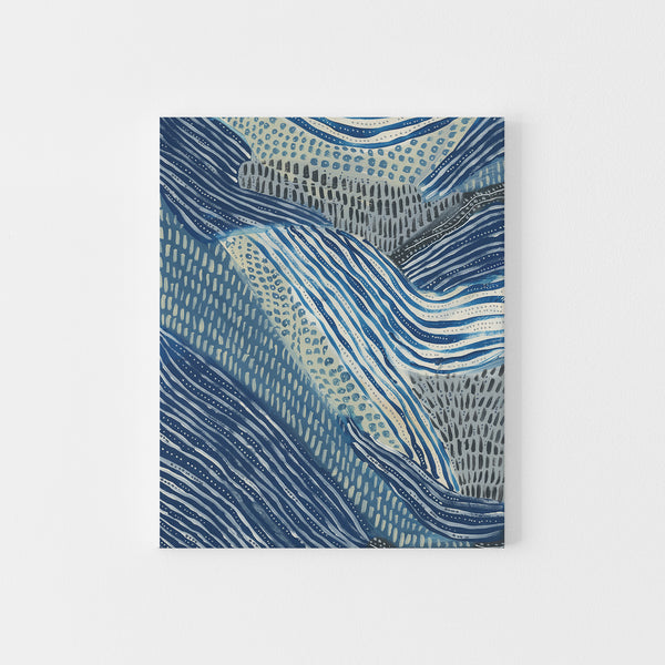 Abstract Modern Ocean Under the Sea Painting Wall Art Print or Canvas - Jetty Home