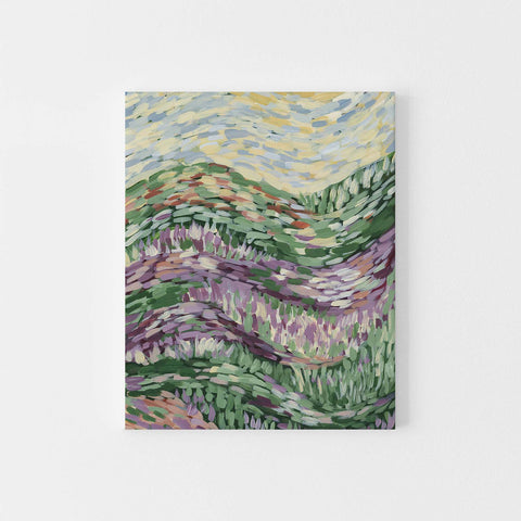 Countryside Field Abstract Floral Impressionist Wall Art Print or Canvas - Jetty Home