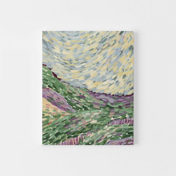 Abstract Hillside Country Painting Wall Art Print or Canvas - Jetty Home