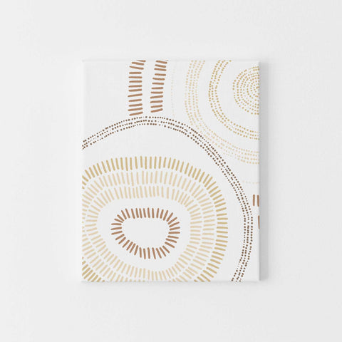 Abstract Shapes Floral Inspired Neutral Wall Art Print or Canvas - Jetty Home