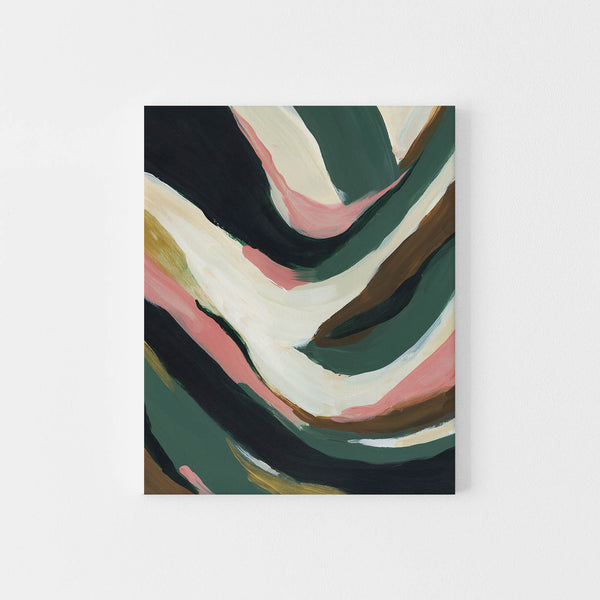 Creamy Green and Beige Tropical Inspired Abstract Painting Wall Art Print or Canvas - Jetty Home