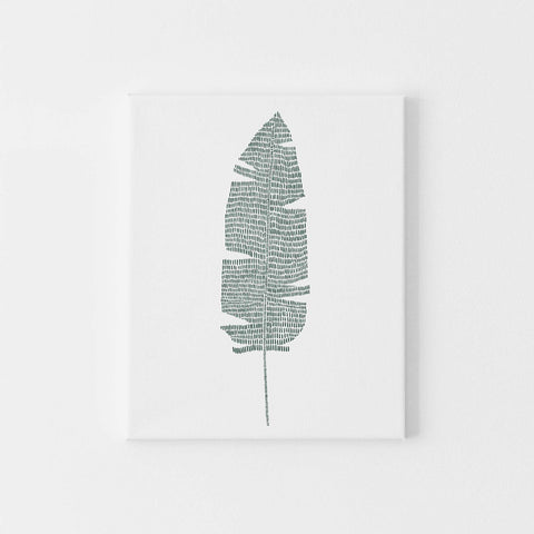 Banana Leaf Modern Tropical Botanical Plant Wall Art Print or Canvas - Jetty Home