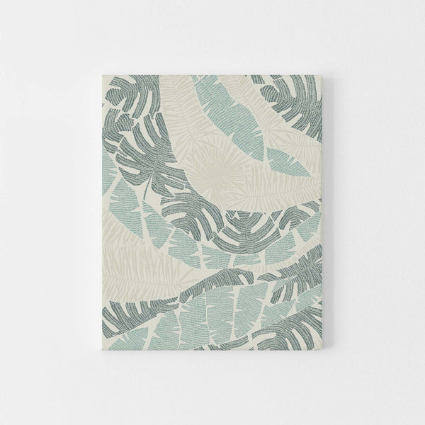 Jungle Plant Illustration Tropical Palm Wall Art Print or Canvas - Jetty Home