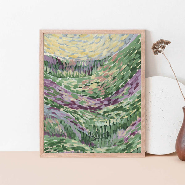 Abstract Floral Landscape Countryside Painting Wall Art Print or Canvas - Jetty Home