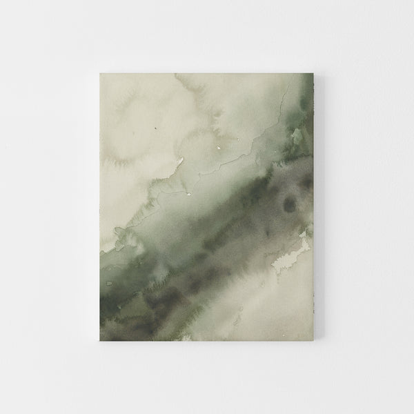 Abstract Green Watercolor Forest Inspired Scandi Wall Art Print or Canvas - Jetty Home