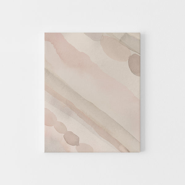 Ethereal Watercolor Painting Modern Minimalist Earth Tones Wall Art Print or Canvas - Jetty Home