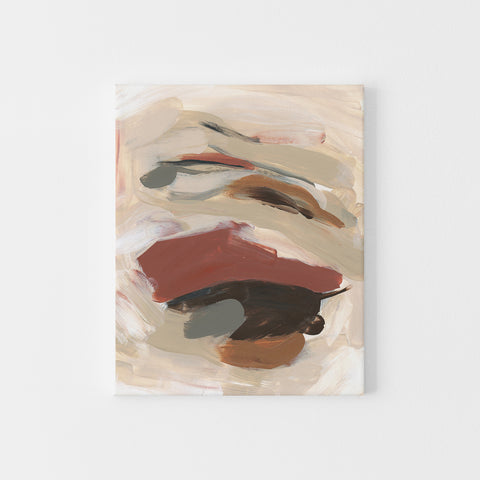 Simple Neutral Warm Abstract Fall Painting Modern Wall Art Print or Canvas - Jetty Home