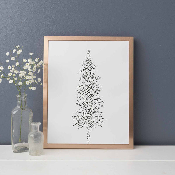 Ethereal Pine Tree Illustration Forest Nordic Wall Art Print or Canvas - Jetty Home