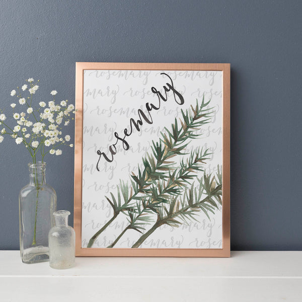 Rosemary Kitchen Herb Wall Art Digital Print - Jetty Home
