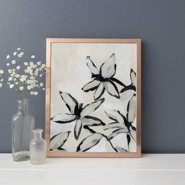 Modern Lily Painting Neutral Wall Art Print or Canvas - Jetty Home