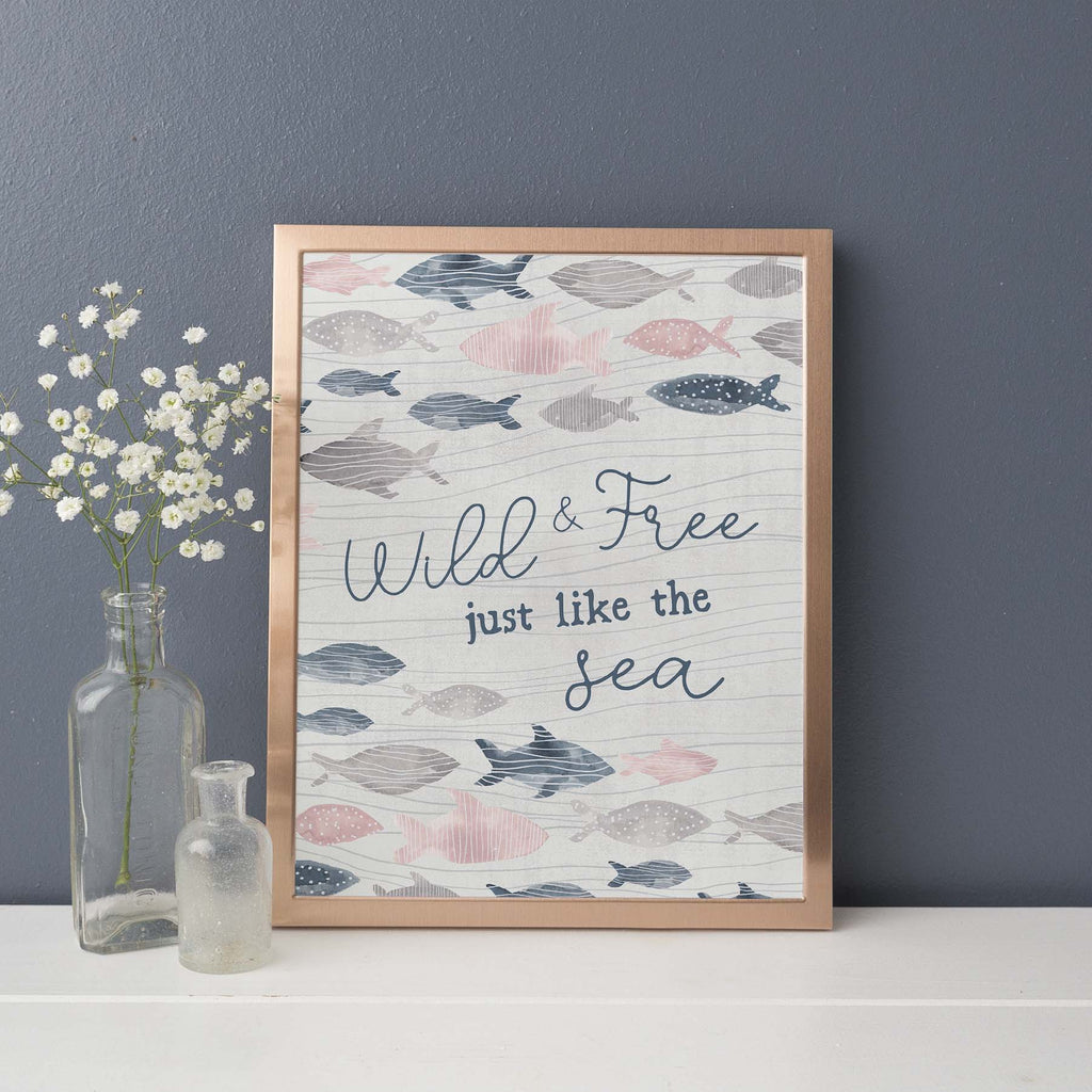 Wild and Free Just Like the Sea Wall Art Print or Canvas - Jetty Home