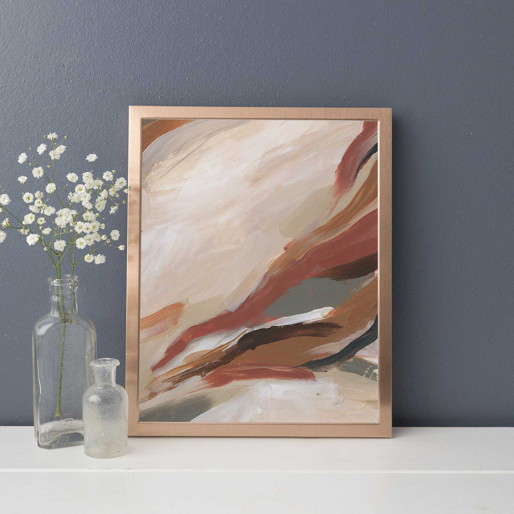 Abstract Warm Tone Autumnal Painting Wall Art Print or Canvas - Jetty Home