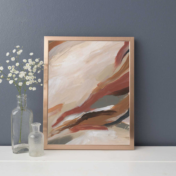 Abstract Warm Tone Modern Painting Wall Art Print or Canvas - Jetty Home