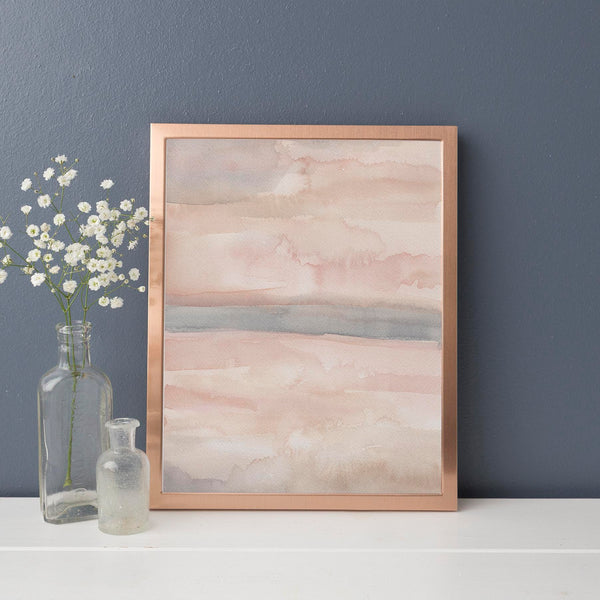 Neutral Blush Abstract Painting Art Print or Canvas - Jetty Home