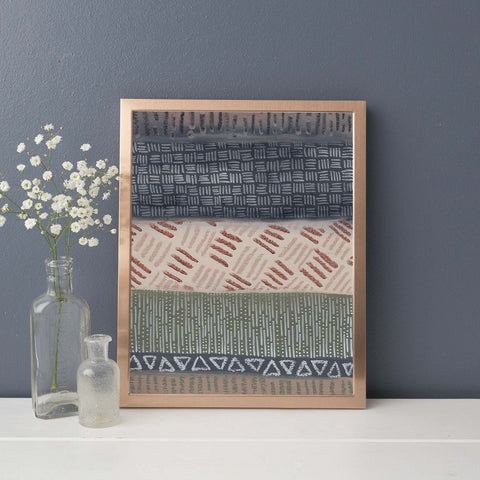 Earth Tones Modern Tribal Southwestern Pattern Wall Art Print - Jetty Home