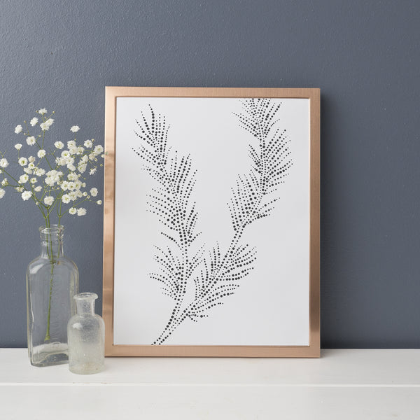 Forest Pine Branch Artwork Cabin Decor Wall Art Print or Canvas - Jetty Home