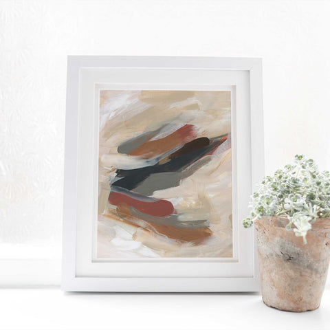 Earthy Abstract Acrylic Painting Large Wall Art Print or Canvas - Jetty Home