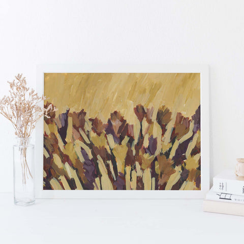 Modern Desert Inspired Minimalist Painting Wall Art Print or Canvas - Jetty Home