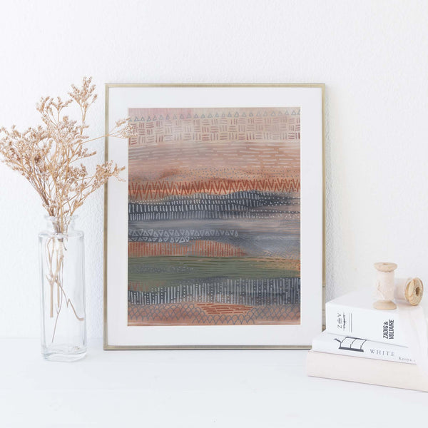 Earth Tones Neutral Modern Desert Abstract Wall Art Print or Canvas - Jetty Home