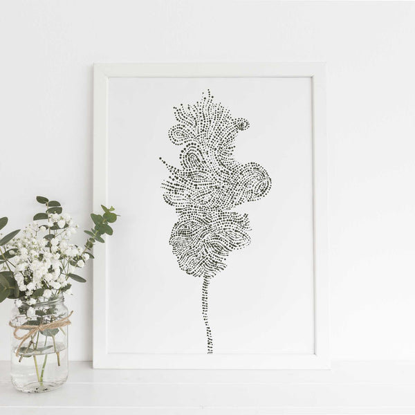 Oak Tree Modern Forest Scandi Style Wall Art Print or Canvas - Jetty Home