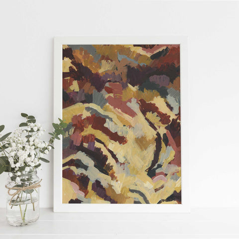 Abstract Landscape Bloom Bold Painting Wall Art Print or Canvas - Jetty Home