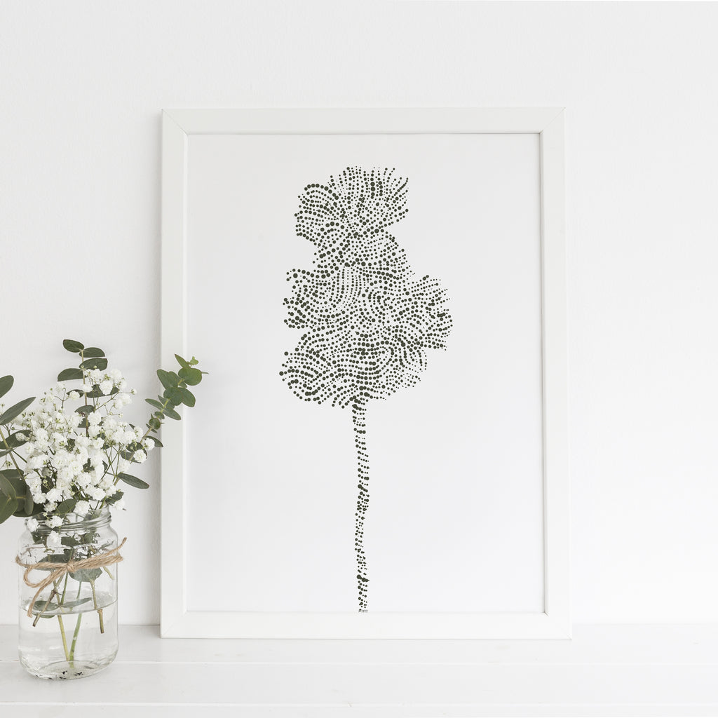 Modern Minimalist Tree Illustration Forest Wall Art Print or Canvas - Jetty Home